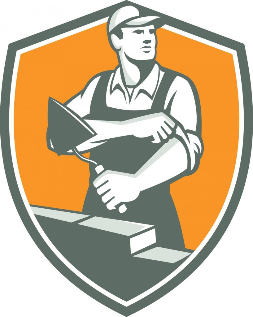 concrete and masonry worker logo