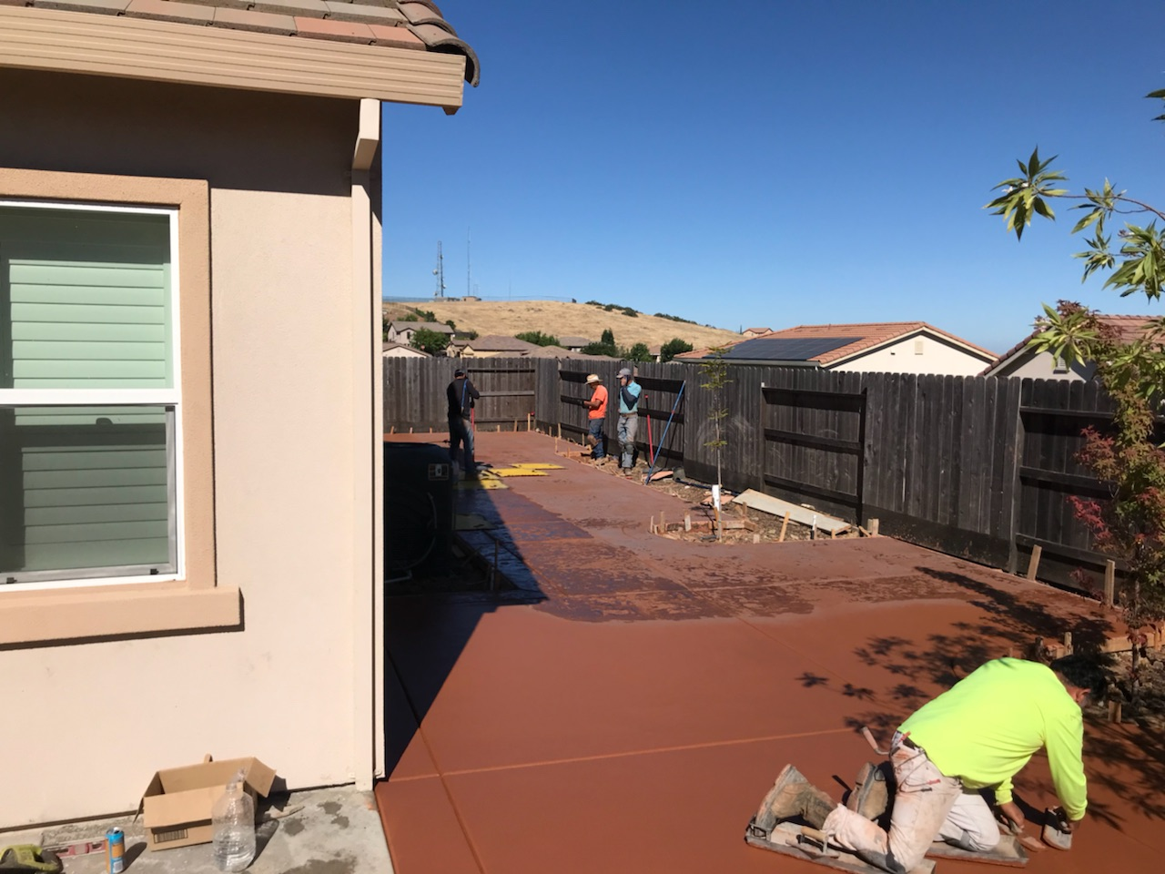 this image shows simi valley concrete contractor concrete company residential client