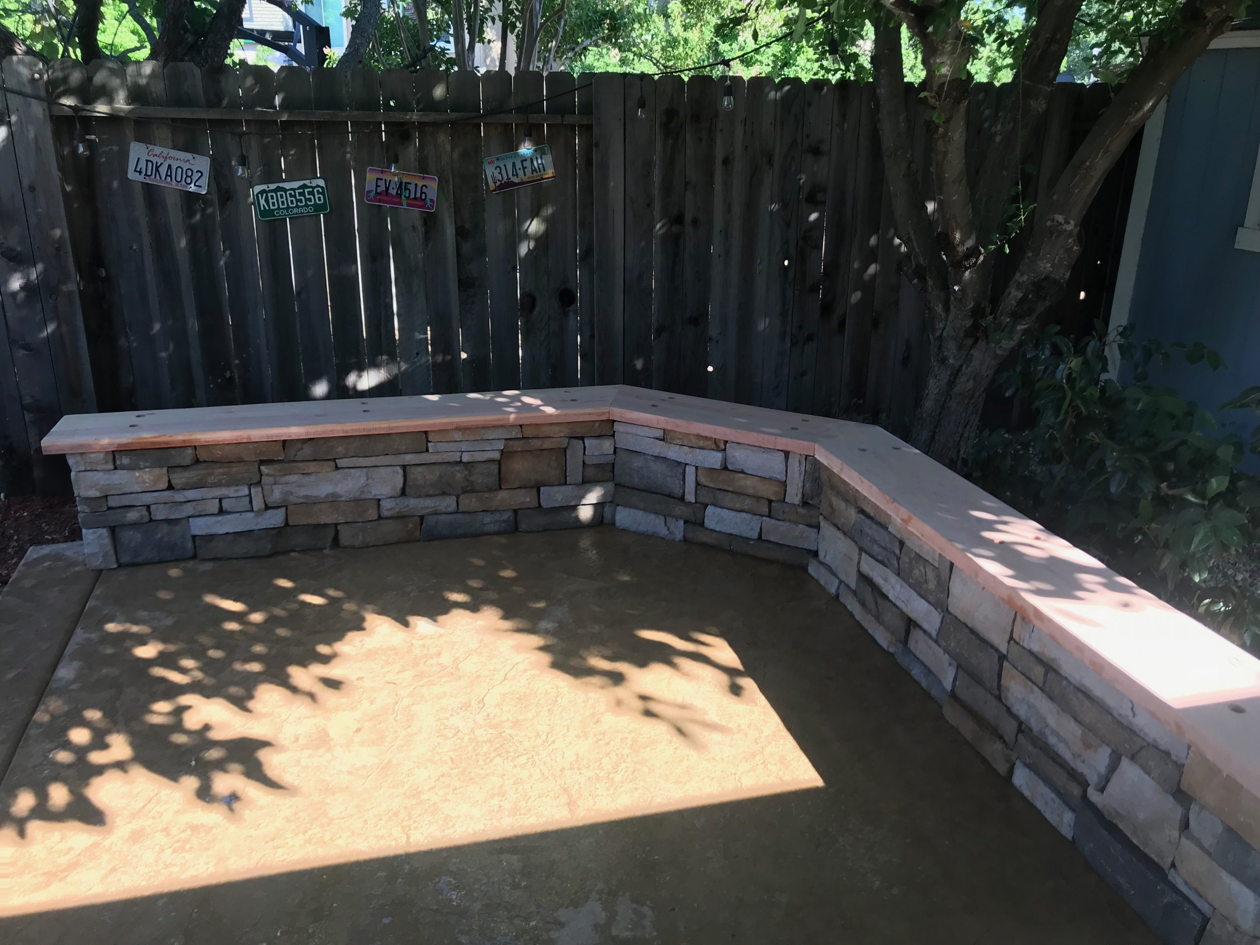 this image shows simi valley concrete and masonry stamped concrete patio project