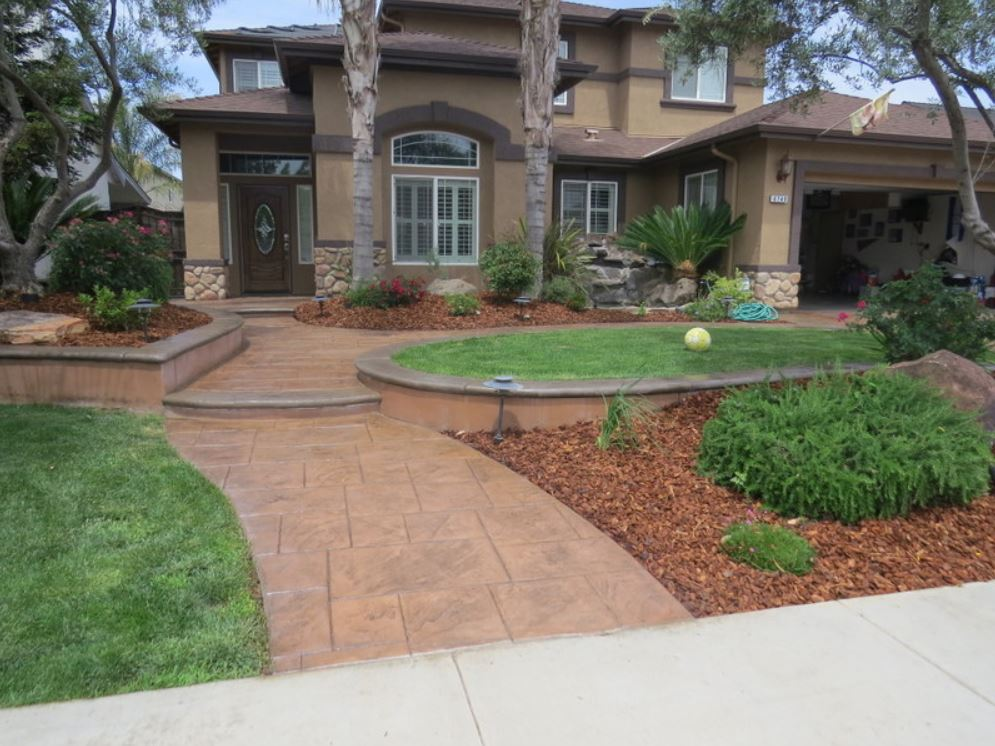 this is a picture of the stained concrete patio in simi valley