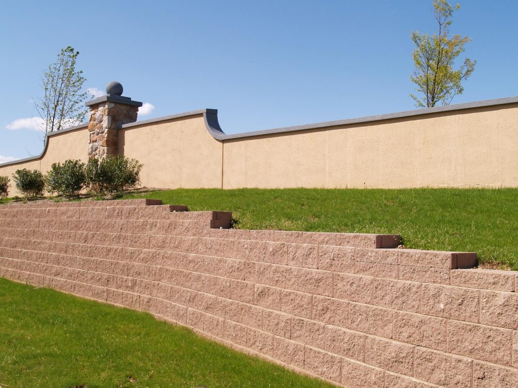 A picture of block wall in Simi Valley.