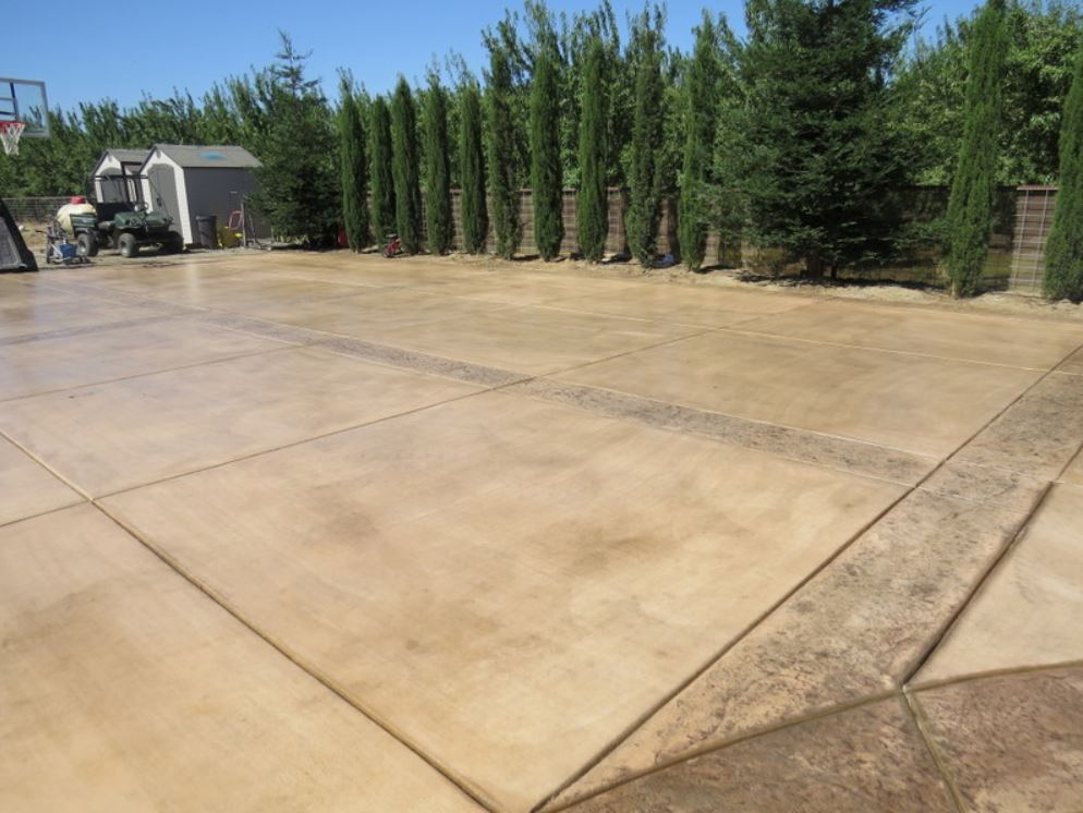this image shows concrete resurfacing in Simi Valley