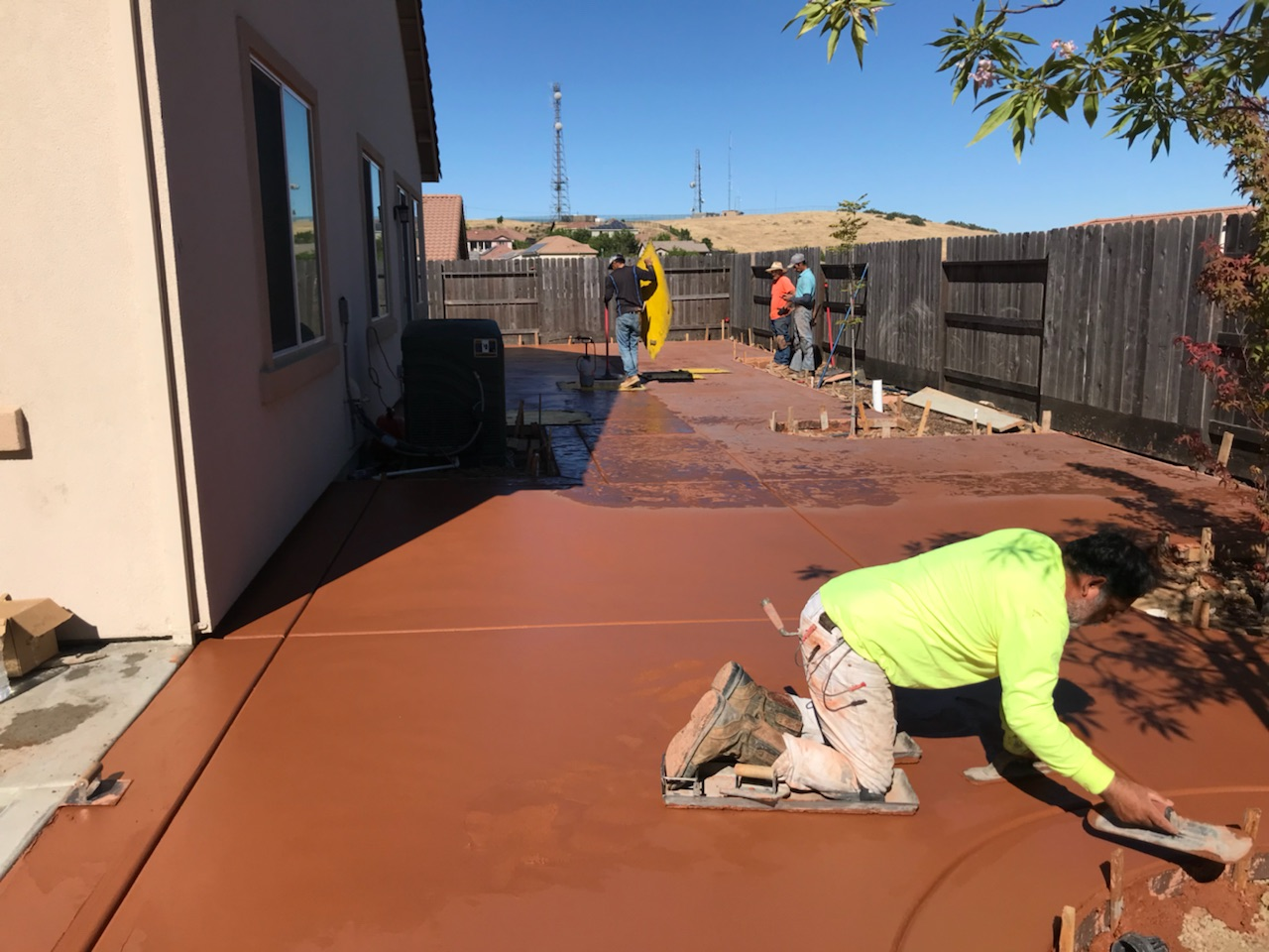 this is an image of stained concrete in Simi Valley