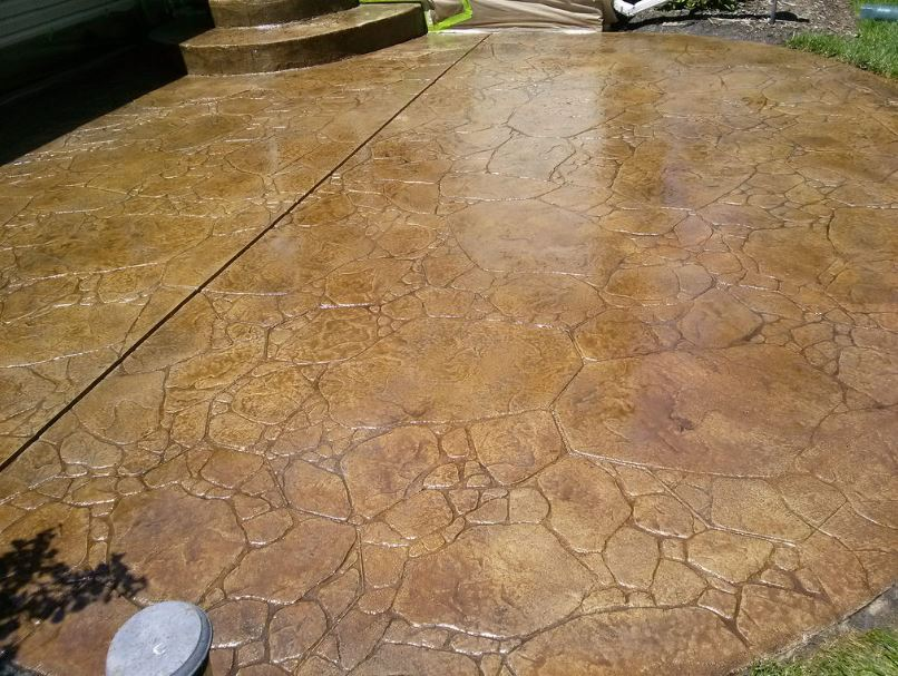 this image shows stamped patio in Simi Valley